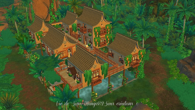 Les Sims 4  : L'hôtel Bora Jungle Resort