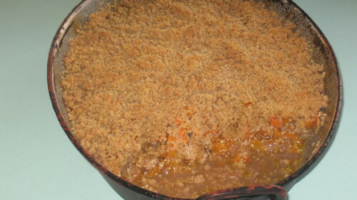 Les recettes de l'orthorexique : crumble de courge butternut
