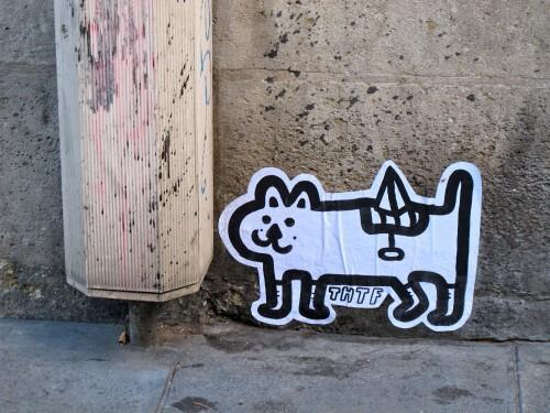 street-art papier Beaubourg THTF 3