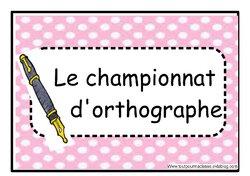 Le championnat d'orthographe
