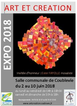 27ème exposition ART et CREATION 2018 du 2 au 10 juin à la salle communale de Coublevie.
