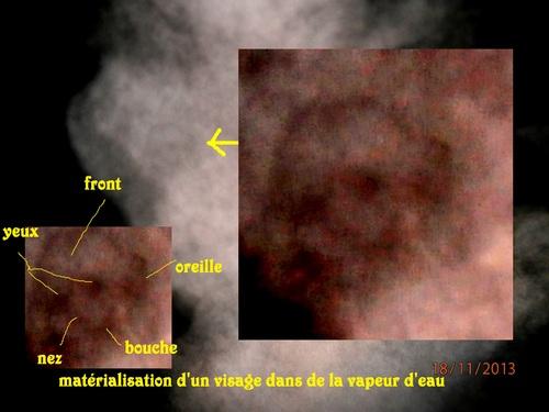 manifestations de visages dans de la vapeur d'eau (18/11/13)