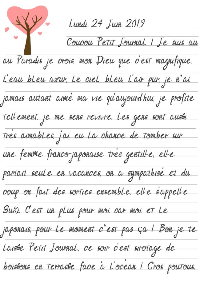 Journal de Mireille, 24 Juin 2019