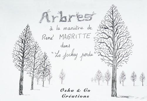 Abécédaire A comme  Arbres de Magritte