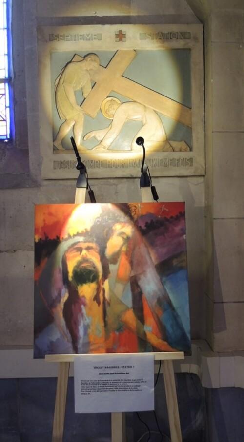 """Richebourg- Exposition """"14 Artistes Peintres, 1 Chemin de Croix"""""""