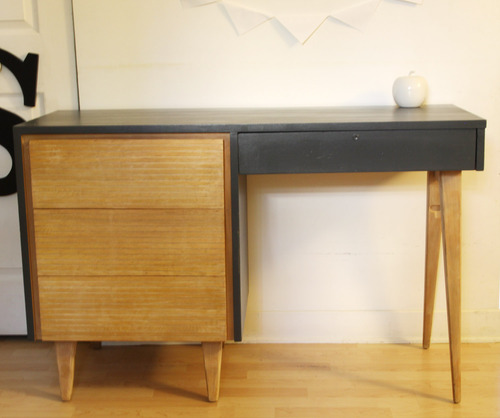 Collection NATURAL : le bureau 60's charcoal