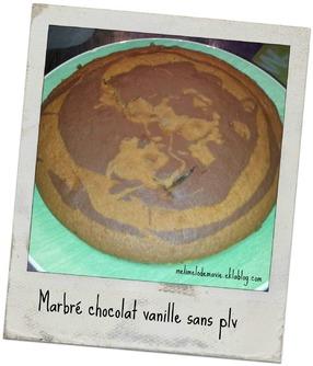 Marbré chocolat vanille sans plv