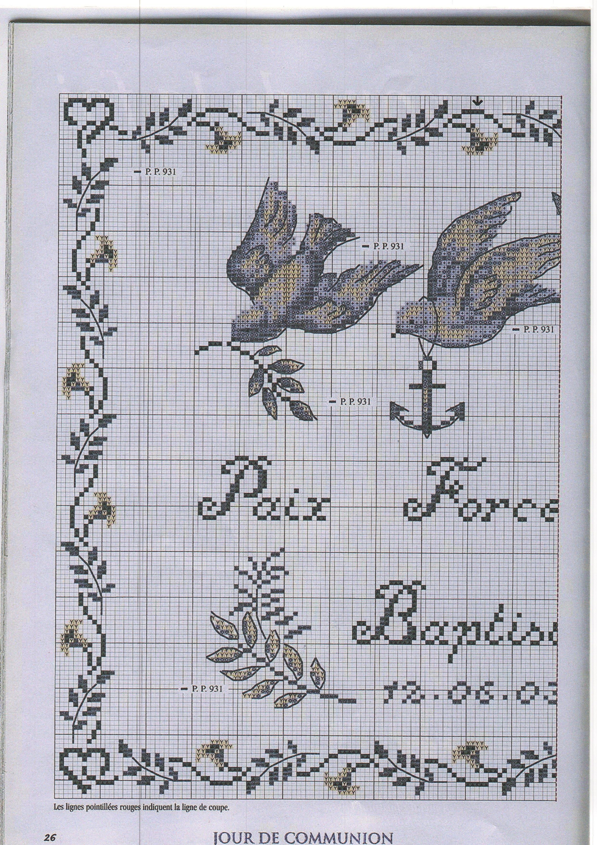 Tableau de naissance bapteme communion mariage les - Tableau de naissance point de croix gratuit ...