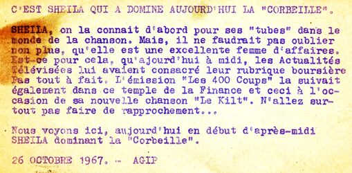26 octobre 1967 / JOURNAL MIDI ACTUALITES - INTROUVABLE