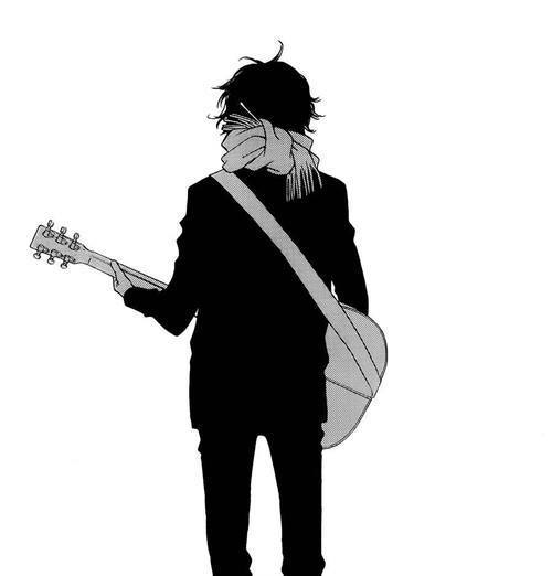 Image de anime, boy, and guitar