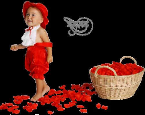 Bébé aux fleurs