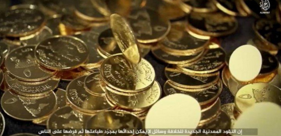 Les dinars d'or de l'Etat islamique sont en circulation depuis juin 2015. (c) Capture d'écran vidéo de l'EI