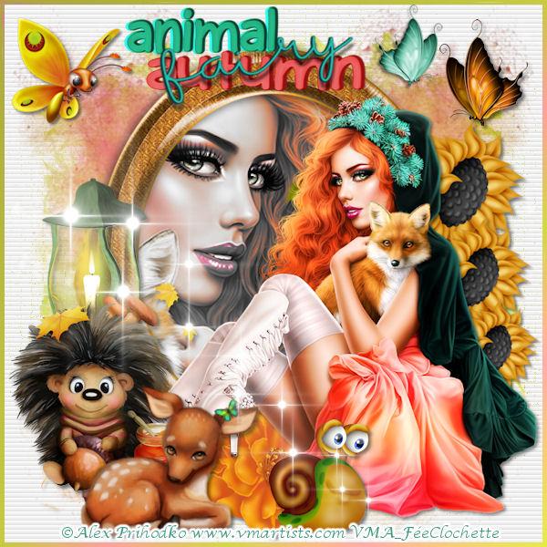 Animal autumn fairy