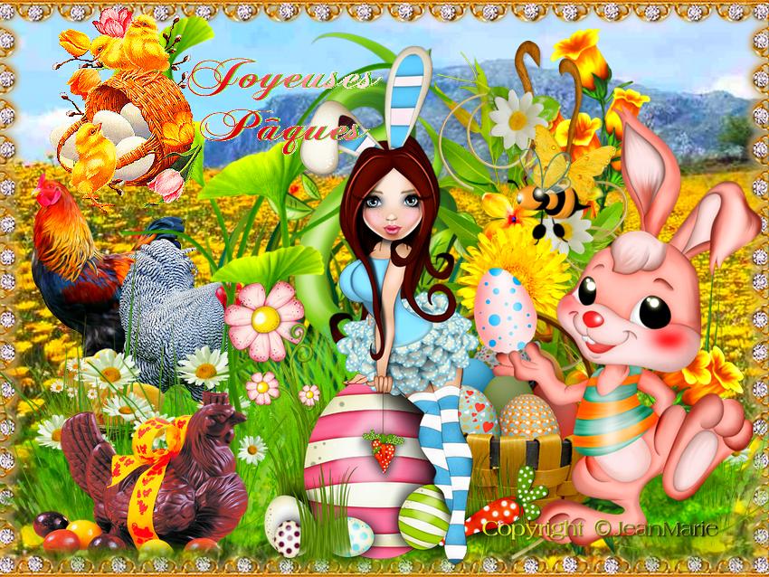 Joyeuses Pâques(Copyright numéro de dépôt c97634 )