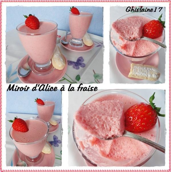 Miroir d'Alice à la fraise