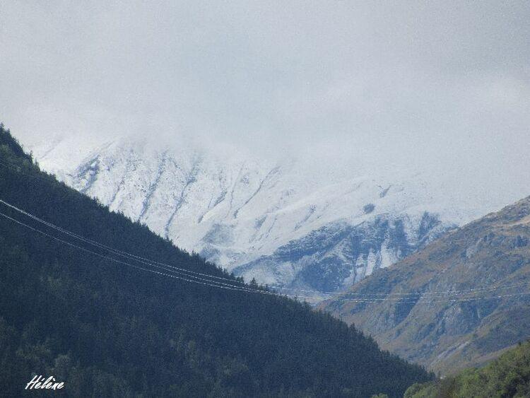 La neige deux jours après mon arrivée , pour me souhaiter la bienvenue