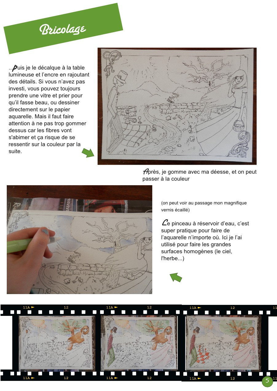Aquarelle, step by step ❀ PsJ 20