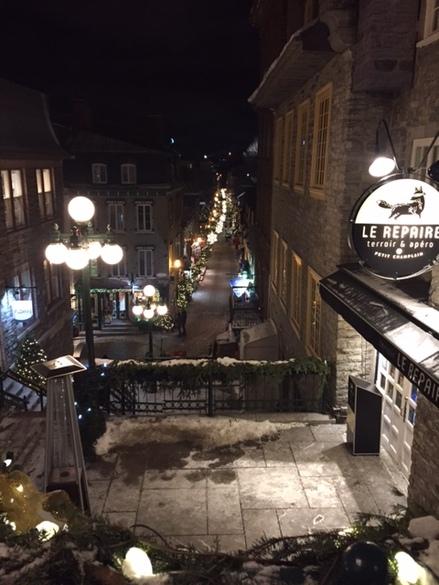 Quartier Petit Champlain à Québec