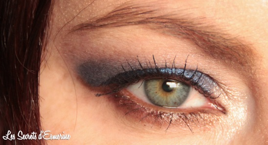 maquillage, makeup, mu, yeux, eyes, bleu, nuit, marron, night, kiko, color impact, rain smoky shades