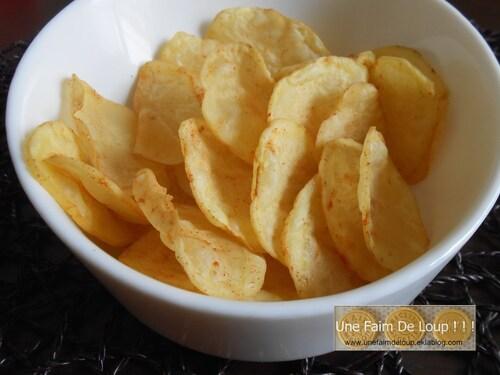 Chips croquantes de pomme de terre