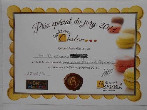 Mon diplôme du concours : Le défi du Macaron