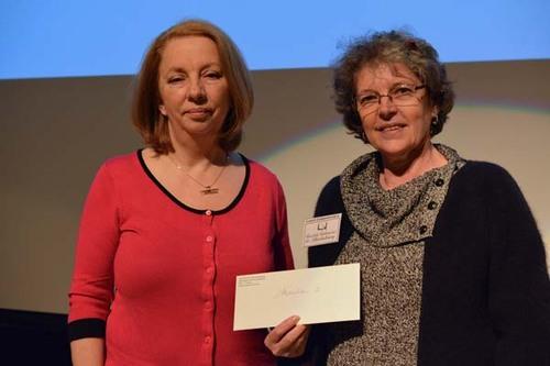 La lauréate Sylvia Dupuis et Diane Prévost, vice-prés. de la SLC