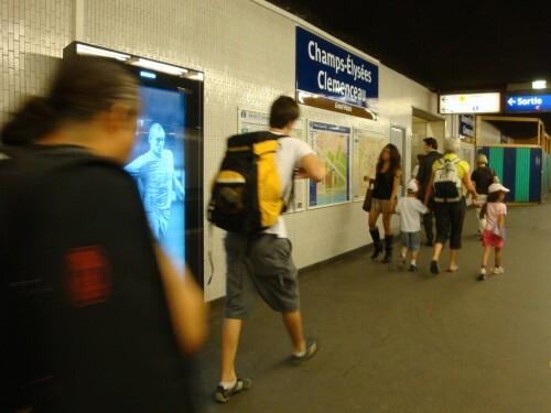 affiche numeriflash Coca-cola métro quai
