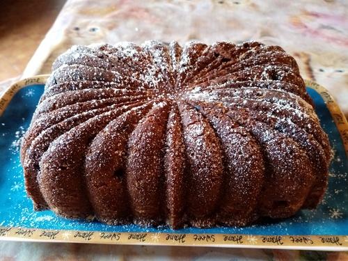Gâteau au rhum et fruits confits