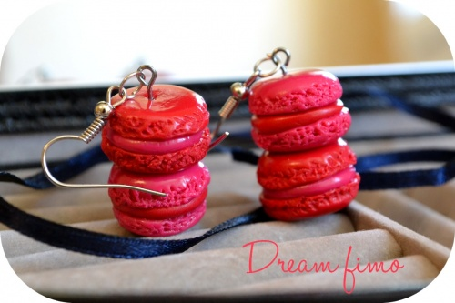 Boucles d'oreilles Mini-Macarons