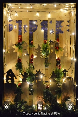 Courtepin la Route de Noël - Weinachtsstraase 2017  (vitrines des particuliers)