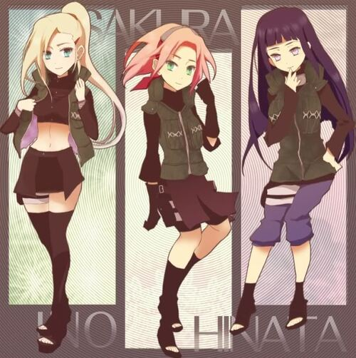 Ino,Sakura et Hinata