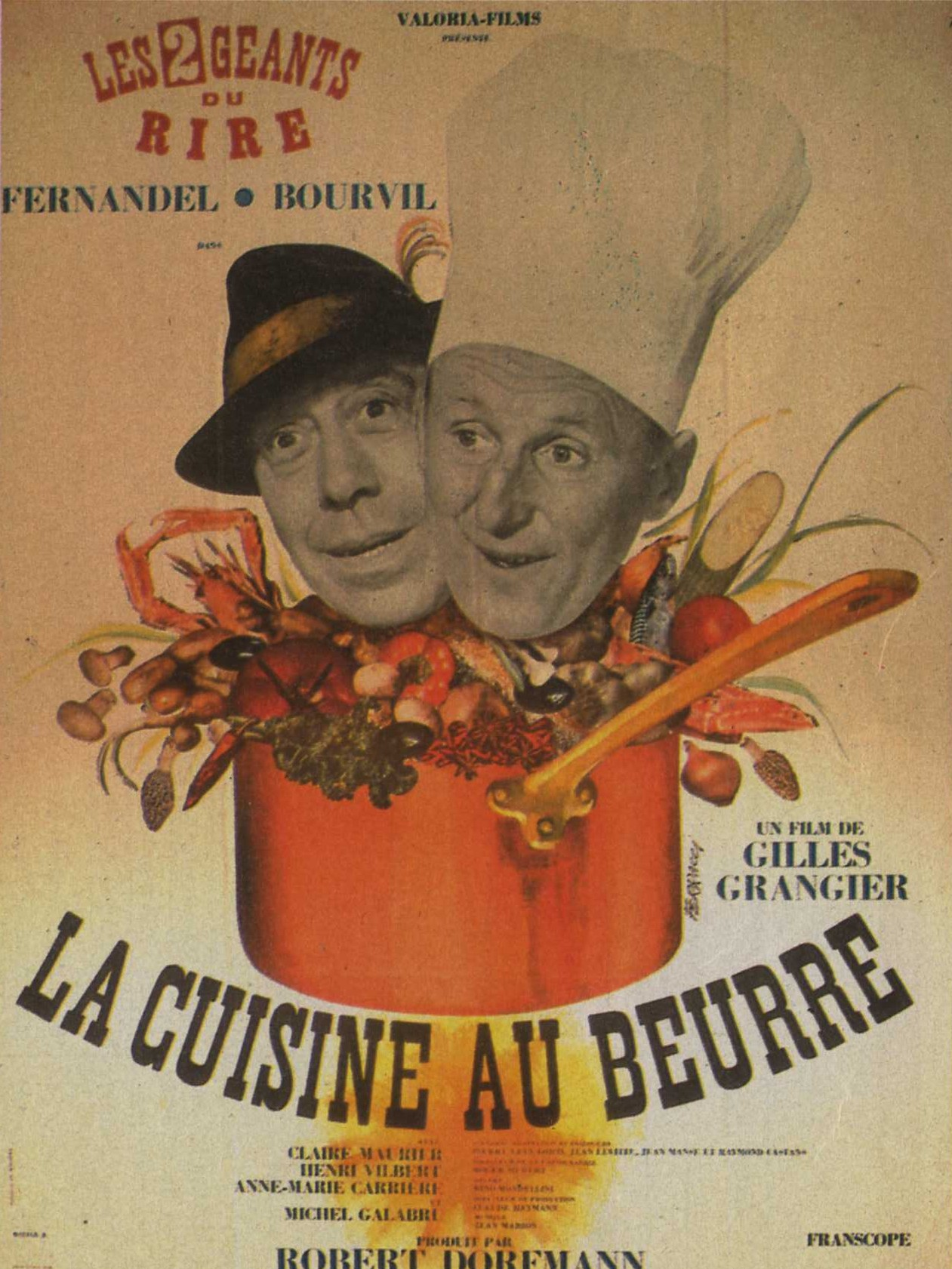la cuisine au beurre bourvil et fernandel box office 1963 box office story. Black Bedroom Furniture Sets. Home Design Ideas