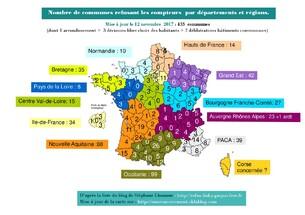 Carte de France des refus des compteurs