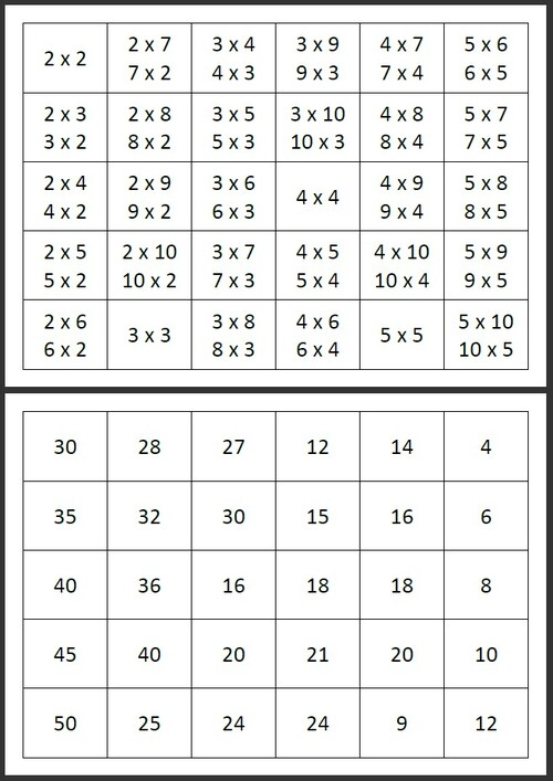 Tables de multiplication (jeu)