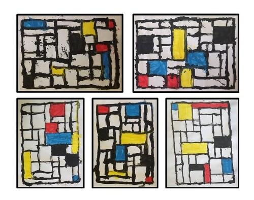 Graphisme - Période 01 : à la manière de Mondrian.