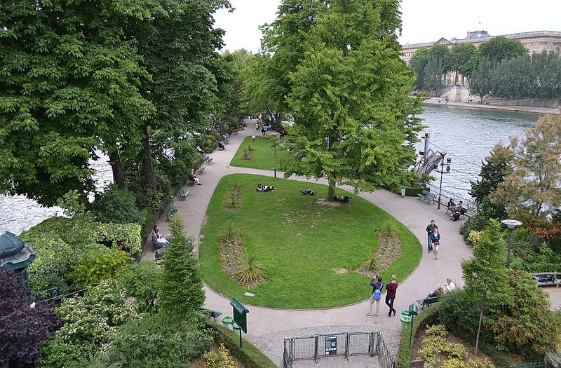 Crue de la Seine, 3 juin 2016 : Le Square du Vert Galant