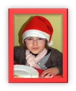 La cantine aux couleurs de Noël.