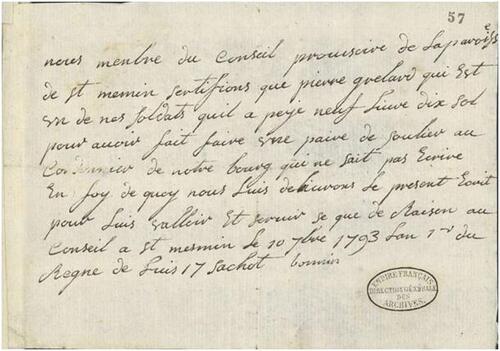 Saint-Mesmin, 1793, le cordonnier aux Archives Nationales....