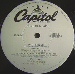 Gene Dunlap - Party In Me