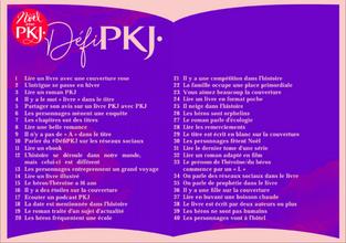 Challenge PKJ- Novembre/Décembre