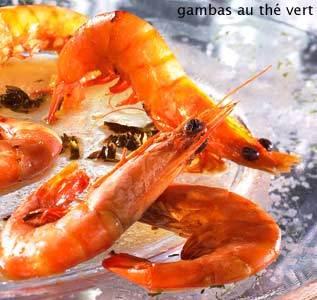 Blog de lisezmoi :Hello! Bienvenue sur mon blog!, Recette des Seychelles : Gambas au thè vert