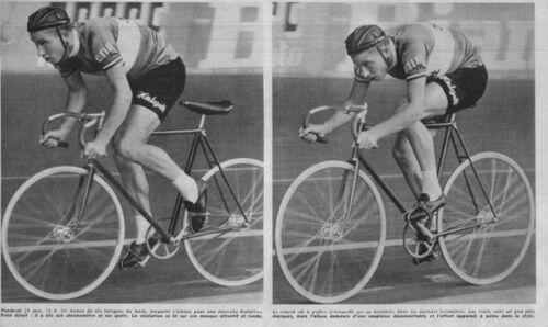 Les vélos du record de l'heure de Jacques Anquetil (1956)