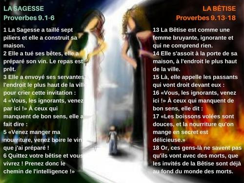 Proverbes 9 - Lecture et Prière