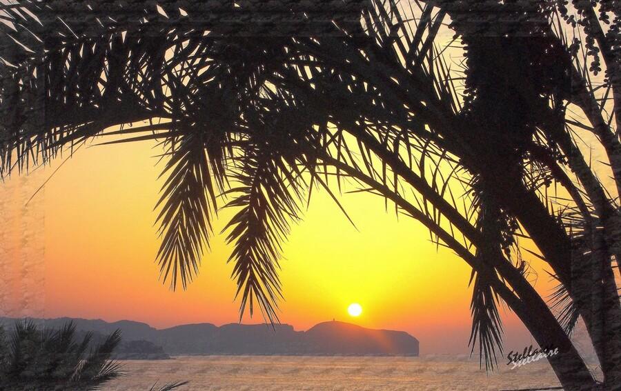 Lever du soleil sur la méditerranée