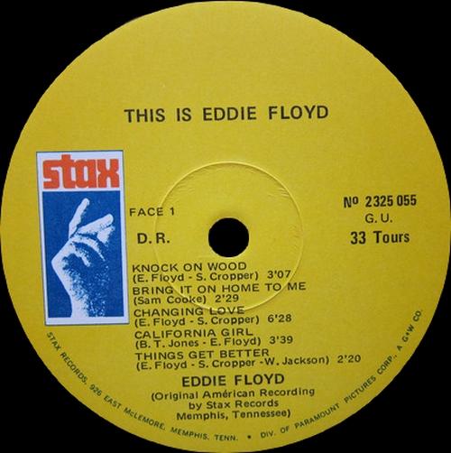 "Special Disc Jockey : Album "" This is...Eddie Floyd Vol 4 "" Stax Records 2325 055 [ FR ]"