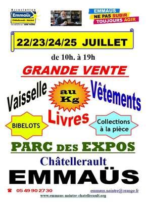 fin juillet : grande braderie à Châtellerault