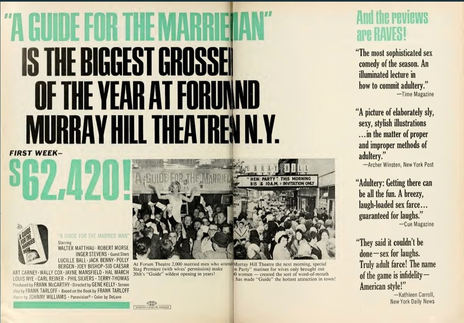 A GUIDE FOR THE MARRIED MAN BOX OFFICE USA 1967