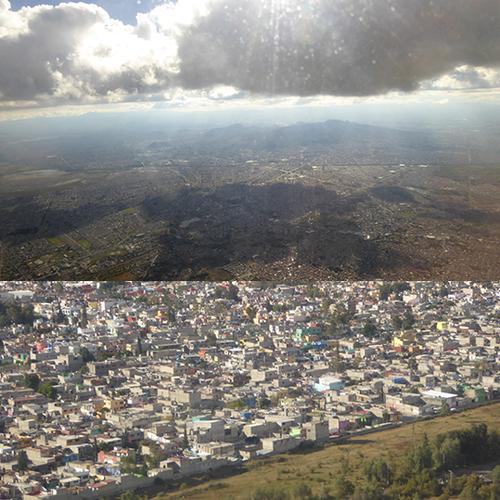 AU-DESSUS DE MEXICO POPOCATEPELT ET SON ÉPOUSE - 1