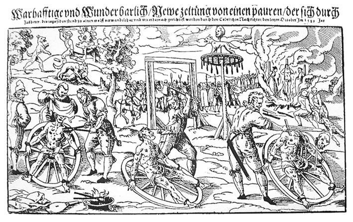 Exécution de Peter Stubbe à Cologne en 1589
