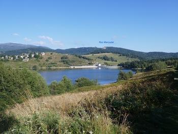 En vue du barrage